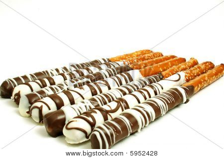 Chocolate Pretzel Sticks