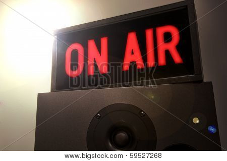 Studio On Air Sign With Lens Flare