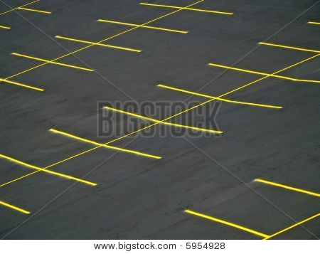 Grunge Empty Parking Lot
