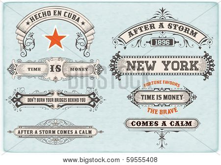 Labels set. Vector