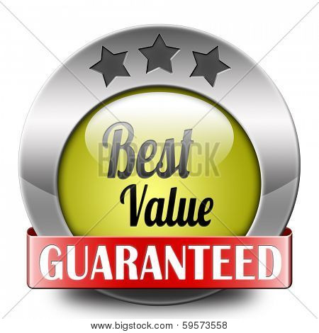 best value for the money web shop icon or online promotion button, sticker or sign for internet webshop best offer at lowest price