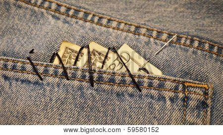dollars in the pocket