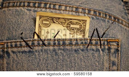 dollar in the pocket