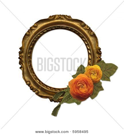 antique floral frame