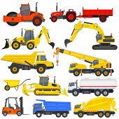 vector illustration of industrial transportation machine. This is file of EPS10 format. poster
