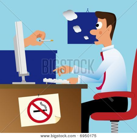 Don't Smoke In The Office!