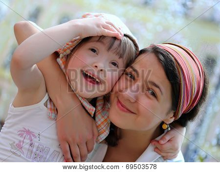 Happy Family Moments - Mother And Child Have A Fun