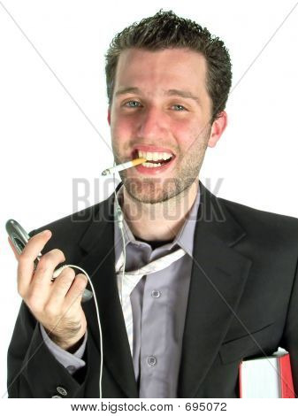 Very Busy - Smiling With Cigarette