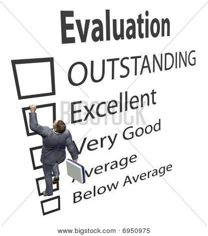 Business Employee klimt evaluatie verbetering formulier