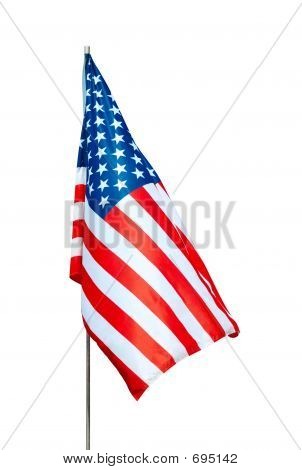USA-Flagge mit Clipping Path