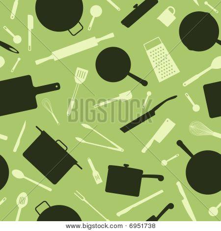 Seamless utensil background