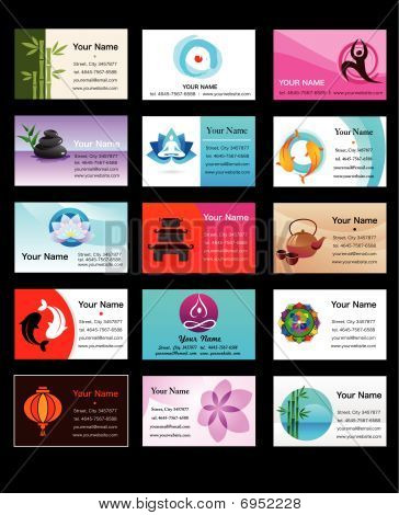 Collection Of Yoga And Zen Business Cards