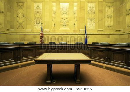 Court Room in State Capitol Building - Madison Wisconsin. poster