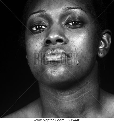 Sad Black Woman