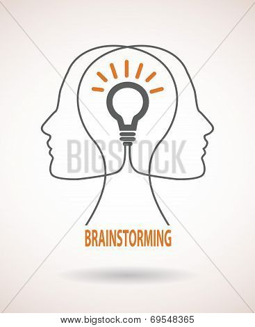Concept of business idea and brainstorming infographics