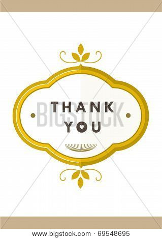 Thank you Card Gold Badge I