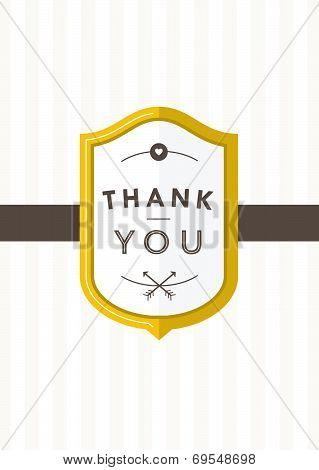 Thank you Card Gold Badge II