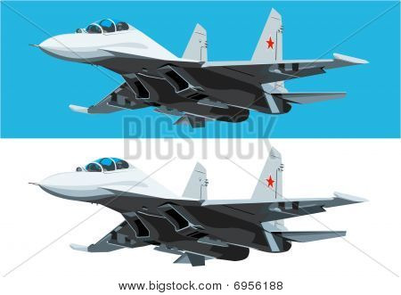 Air Fighter In Fly