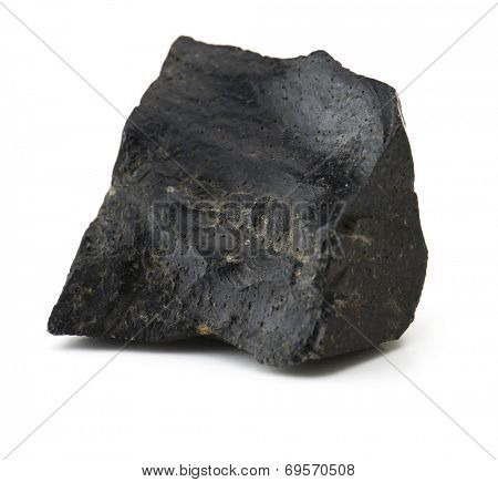 Obsidian isolated on white.