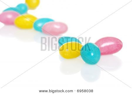 Easter Jelly Beans Focus On Blue One Very Shallow Dof
