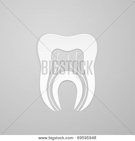 Emblem Tooth With Channel And Vein