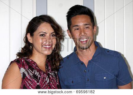 LOS ANGELES - AUG 2:  Linda Elena Tovar, Parry Shen at the