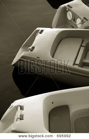 Stock Photo Of Black And White Paddle Boats