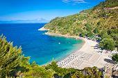 Beautiful beach near Armenistis on Sithonia peninsula, Halkidiki, Greece. poster