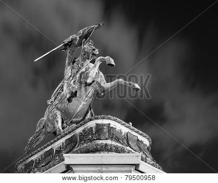 Equestrian Statue Heldenplatz Vienna Austria