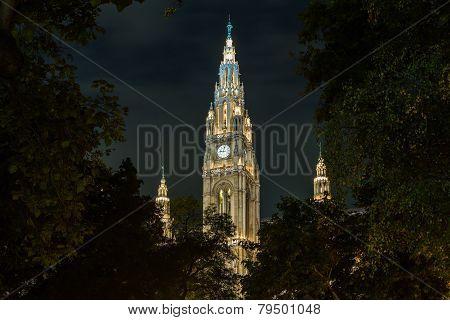 Rathaus In Vienna Austria