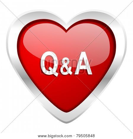 question answer valentine icon   poster