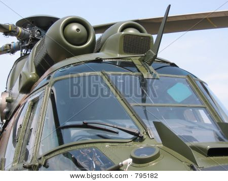 Aircraft - Military helicopter closeup