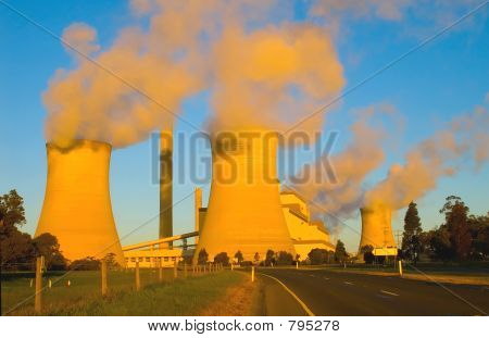 Power generator at dusk