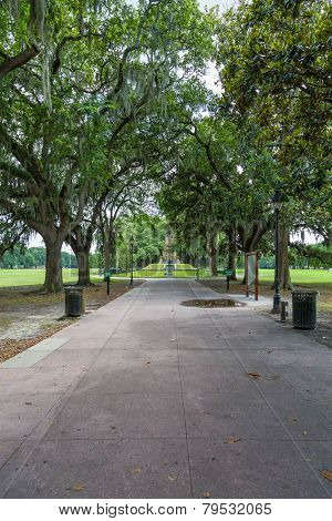 Path And Statues In Forsythe Park