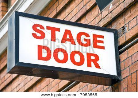 London Theatre Stage Door Sign