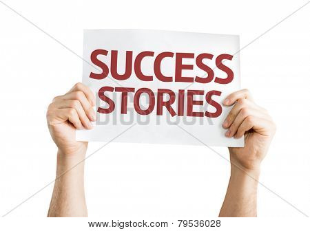 Success Stories card isolated on white background