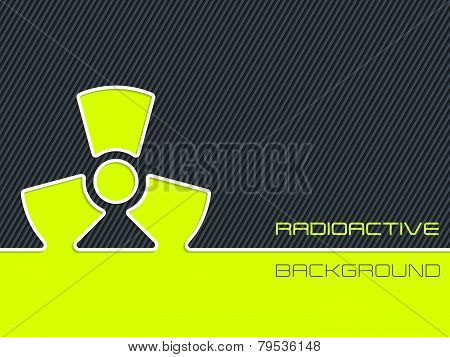Radioactive Warning With Striped Background