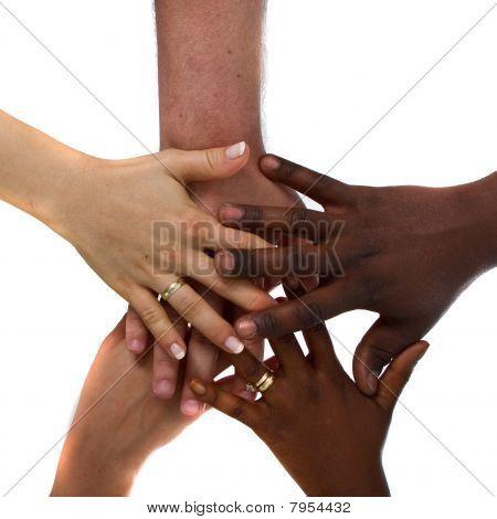 vielpunkt Hände zusammen