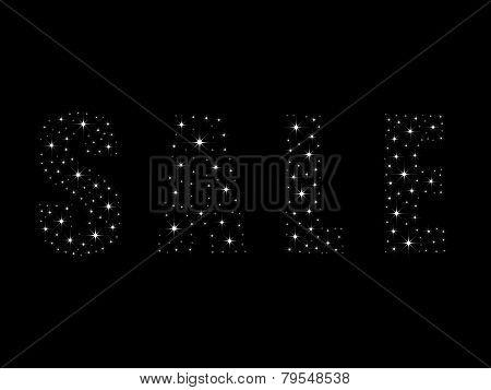 Shining bright stars sale text