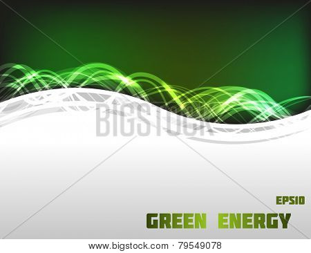 Green colored energy frame. Fully vector, enjoy!
