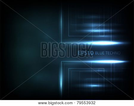 EPS10 vector blue techno