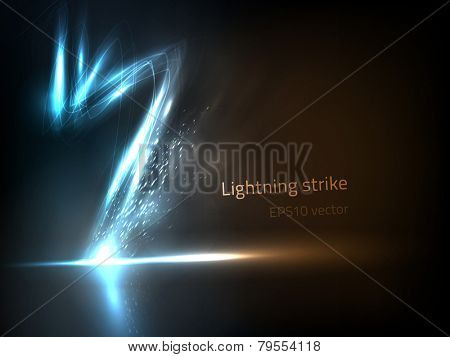 EPS10 vector lightning strike