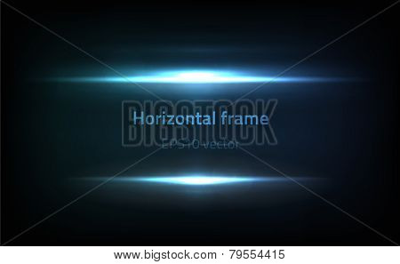 EPS10 vector horizontal frame