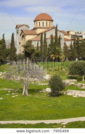 Church Of Agia Triada In Athens
