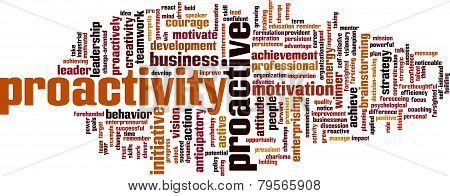 Proactivity Word Cloud