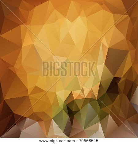 Vector Polygonal Background Triangular Design In Natural Colo