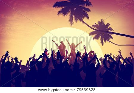 Beach Summer Music Concert Outdoors Recreational Pursuit Concept poster