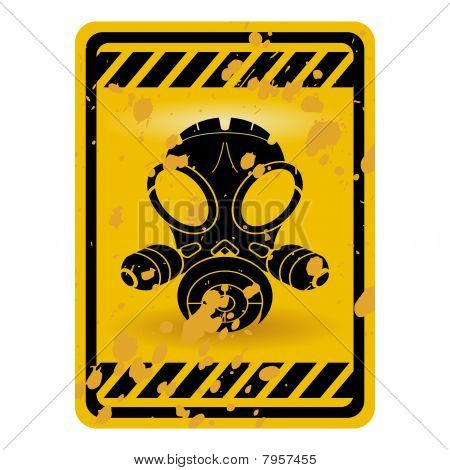 Gas Mask Sign