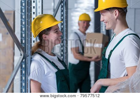 Young Storage Workers
