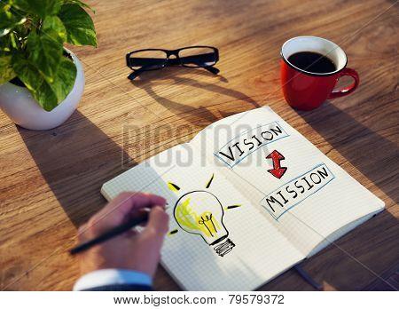 Businessman Motivation Vision Mission Ideas Creativity Concept